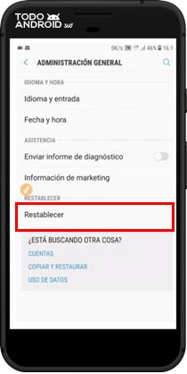 Restablecer los Valores de Fábrica Android 7.0 - todoandroid360 - 04