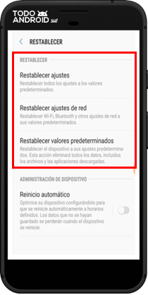 Restablecer los Valores de Fábrica Android 7.0 - todoandroid360 - 05