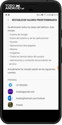 Restablecer los Valores de Fábrica Android 7.0 - todoandroid360 - 08